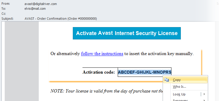 Avast Internet SecurityActivation Code 2019