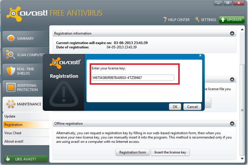Avast Internet SecurityActivation Code 2038