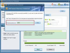 RAR Password Recovery Key