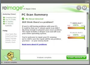 Reimage PC Repair Key